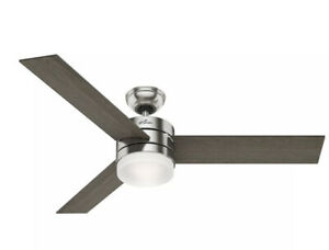 "Hunter Exeter 54 LED Exeter 54"" Ceiling Fan - Nickel"