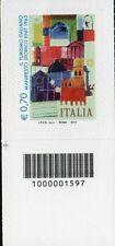 1597 CODICE A BARRE LATO SINISTRO IL TURISMO ENIT 0,70 ANNO 2014