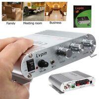 200W 12V Amplifier Booster for Car Subwoofer Home Hi-Fi 2.1 New UK