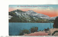 Donner Lake Calif  Showing S. P. R .R. Snow Sheds  Horse & Buggy  Postcard 1717
