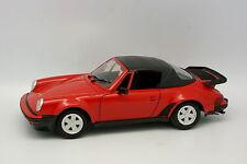 Polistil 1/18 - Porsche 911 Turbo  Cabriolet  Rouge