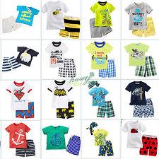 été enfants bébé garçons filles 2pcs Pyjama Ensemble Set Costume