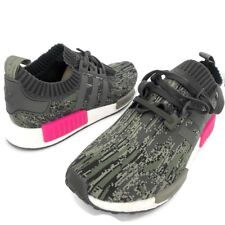 pretty nice be736 0aab5 Adidas NMD R1 PK Primeknit Utility Grey Camo Shock Pink Size 12 NEW WITH  TAGS