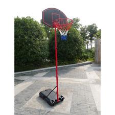 27'' x 18'' Backboard Adjustable Basketball Hoop System Outdoor Stand w/ Wheels