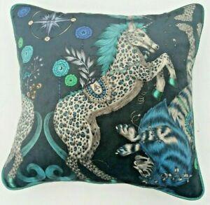 Emma J Shipley CASPIAN NAVY VELVET Cushion Cover 41cm x 41cm