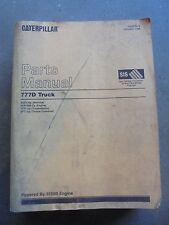 CATERPILLAR 777D TRUCK - PARTS MANUAL AGC1 UP SEBP3016 1999 (S1B43)