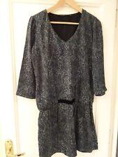 La fée maraboutée, élégante robe  aspect soie et velours, taille 38