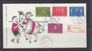 SURINAME, 1964 Child Welfare Fund set of 4, First Day cover.