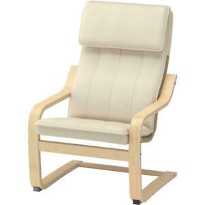 NEW IKEA POÄNG Children's Armchair Soft & Comfortable Birch Veneer Almås Natural