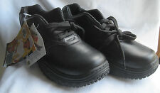 LEHIGH SLIPGRIPS SAFETY SHOES - MENS 7-1/2M - BLACK - NEW WITH TAGS