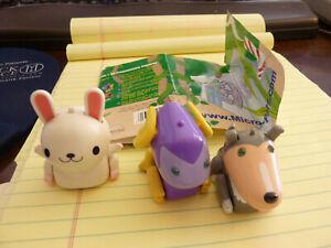 Tomy MicroPets Dux the Dog, White Rabbit, Bob Dragon 2003 Interactive Robot Toy