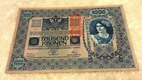 Austria Banknote. 1000 Kronen. Dated 1919. Pick 59.