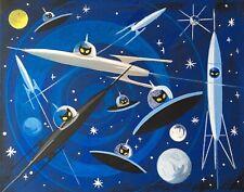 EL GATO GOMEZ RETRO SCI-FI MARS MARTIAN ROCKET OUTER SPACE FUTURISTIC 60/'S PRINT