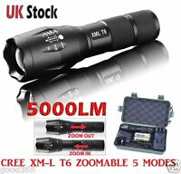 G700 X800 Police LED Flashlight Tactical 5000LM XML-T6 Zoomable Torch Lamp 18650