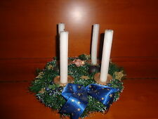 Adventskranz (künstl.Tanne )ca.30 cm Durchmesser,bläulich dekoriert