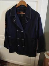 Route 66 Denim Peacoat Style Jacket Size Medium NICE