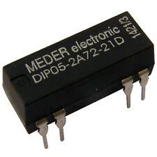 Meder DIP05-2A72-21D Relais 5V 2xEIN 200 Ohm DIP Reed Relay mit Diode 086744