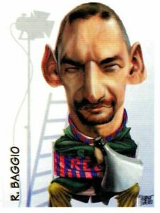 CALCIATORI PANINI 1997-1998 FIGURINA N. 384 CARICATURA ROBERTO BAGGIO (BOLOGNA)