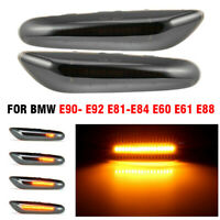 Fit For BMW E90- E92 E81-E84 E60 E61 LED Smoked Turn Signal Side Marker Light
