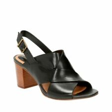 Clarks Ralene Vive Black Leather Women's Sandals Size UK 4D