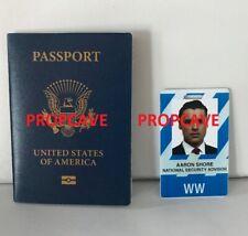 Designated Survivor:Aaron Shore Passport+ID Badge (TV,Screen Used,Original, COA)