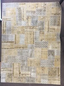 Antique Vintage Hand Knotted Rug Patchwork Carpet Rare Hand Woven