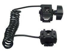 Dual Hot Shoe Cord for ALL CANON EOS + Wireless shoe