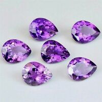 Wholesale Lot 8x6mm Pear Cut Natural African Amethyst Loose Calibrated Gemstone