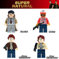 Supernatural Series Mini Figures Set of 4 Bobby Sam Dean Castiel Free Gift Bags