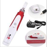 Electric Derma Pen Auto Micro Needle Roller Anti Aging Skin Therapy+2 Cartridge