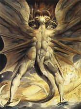 WILLIAM BLAKE RED DRAGON WOMAN CLOTHED SUN 1805 OLD ART PAINTING PRINT 3060OMLV