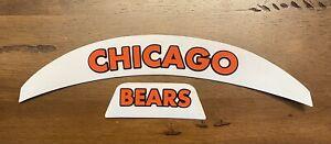CHICAGO BEARS WHITE Front & Rear 3D Bumpers Riddell F/S Speed Flex Helmet