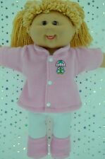 "Play n Wear Doll Clothes For 16"" Cabbage Patch PINK JACKET~TIGHTS~BOOTIES"