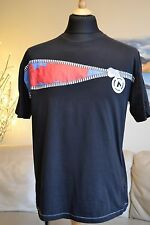 AIRWALK Black T-Shirt Zip Graphic - Crew neck Mens Sz. Medium Chest 44""