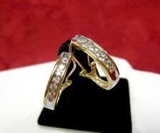 SOLID 10K YELLOW GOLD DIAMOND OMEGA BACK J HOOP EARRINGS .70 CTW ROUND CHANNEL