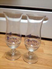 Cruise Ship Royal Caribbean Tall Hurricane Cocktail Glasses Set of 2