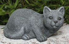 sculpture en pierre chats Figurines d'animaux décoratives Statuette de jardin