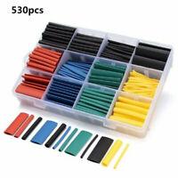 530 Pcs Heat Shrink Tubing Insulation Shrinkable Tube 2:1 Wire Cable Sleeve Kit