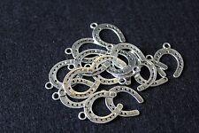 tibetan silver horse shoe charms - novelty charms - jewellery making