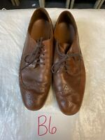 Timberland Men Shoes Size 12 Distressed Brown Leather Causal Dress A1248 Lace Up