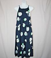 Size S - GAP Navy Blue White Floral Print Sleeveless Blouson Dress New NWT