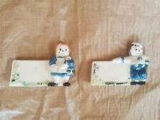 Vintage 1974 Raggedy Andy Bobbs Merrill Ceramic Figure Set