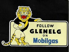 FOLLOW GLENELG ON MOBILGAS Vinyl DECAL STICKER DEALER TIGERS Oil SANFL vfl afl