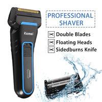 Men Cordless Electric Hair Beard Shaver Ciipper Dual Foil Shaving Razor  ❤ B