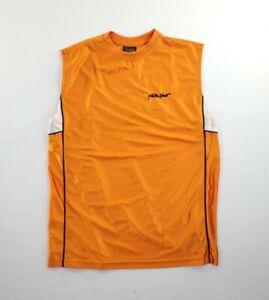 Fubu Sport Jersey Shirt Mens sz M Vintage Sleeveless orange embroidered logo