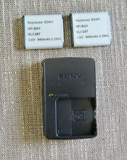SONY Battery Charger BC-CSGD For NP-BG1 Batteries PLUS 2 NP-BG1 batteries