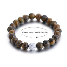 Charm Tiger Eye & Howlite Distance Bracelets Matching YinYang Couple Bracelets