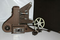 Vintage Univex P-500 8mm Film Projector with Case, Cord, and Take Up Reel