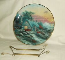 1993 Thomas Kinkade Collector Plate Seaside Cottage Enchanted Cottages 5312 A