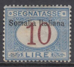 Italy Somalia Tax Sassone n.22 cv 380$ SUPER CENTERED  MNH**
